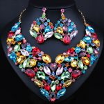 New Magnificent Multi Color Crystal Bridal <b>jewelry</b> sets Multi Color necklace sets wedding <b>jewelry</b> sets for bride <b>accessories</b>