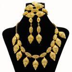2018 Dubai Fashion Creative 24 Gold <b>Jewelry</b> Sets Big Necklace Ring Bracelet Charm Women Anniversary Gift <b>Jewelry</b> <b>Accessories</b>