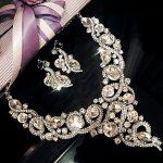 New Arrival bridal <b>Jewelry</b> Sets Luxury Bridal Wedding Sets Necklace earrings Women Wedding Dress <b>Accessories</b> Crystal Hair