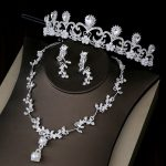 Bridal <b>Jewelry</b> Sets Wedding Tiara Set for Bride Pearl Crown Crystal Rhinestone Necklace And Earring Set Earing Women <b>Accessories</b>