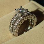choucong <b>Antique</b> <b>jewelry</b> Stone 5A Zircon stone 10KT White Gold Filled 2 Wedding Band Ring Set Sz 5-11 R11 Free shipping