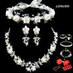 11 styles wedding bride <b>jewelry</b> sets white wreath lace headdress + Earrings + Necklace three pieces suit flowers <b>accessories</b>