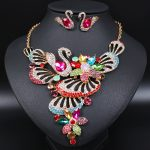 Luxury Swan Indian Brides Crystal Necklace Earrings Sets Bridal <b>Jewelry</b> Sets Party Wedding Costume <b>Accessories</b> Gifts for Women