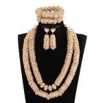Dubai Statement Bridal <b>Jewelry</b> Sets Superior Copper Gold Beads <b>Accessory</b> <b>Jewelry</b> Sets Big Heavy for Women African <b>Jewelry</b> ABH713