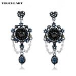 TOUCHEART Blue Crystal <b>Antique</b> Bronze <b>Jewelry</b> Popular Gifts Ethnic Vintage Drop Dangle Earrings for Women SER160112