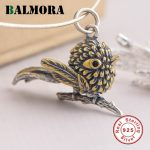 BALMORA 925 Sterling Silver Eagle Pendants 2 Colors Without a Chain Women Men <b>Accessories</b> Gifts Cute Animal <b>Jewelry</b> SY13782