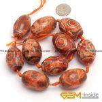 20x30mm olivary rice vintage dzi beads tibet agat <b>antiquity</b> style agat beads for <b>jewelry</b> making beads 10 Pcs wholesale !