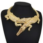 2018 New Gold & Silver Color Large Crocodile Pendant <b>Accessories</b> Necklaces Chokers Necklace For Women <b>Jewelry</b> Gifts ZY-GHB002