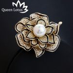 New high-quality fashion Zircon women's brooch 2017 luxury ladies roses pearl brooch <b>accessories</b> factory direct <b>jewelry</b> 1862127