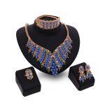 2017 Nigerian Wedding <b>Jewelry</b> Sets Indian Bride <b>Accessories</b> Gold Choker Necklace African Beads <b>Jewelry</b> Sets Free Gift Box