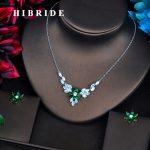 HIBRIDE Luxury AAA Cubic Zircon White Gold Women Bridal <b>Jewelry</b> Sets Wedding Necklace <b>Accessories</b> Bijoux N-531