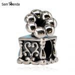 Authentic 925 Sterling Silver Bead Charm <b>Antique</b> Phonograph Music Beads Fit Pandora Bracelets & Bangles Women DIY Gift <b>Jewelry</b>