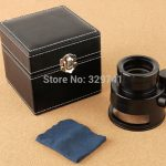 All Metal Cloth Magnifying Glass 10x with Scale and 12 LED Light Pocket Microscope for <b>Antique</b> <b>Jewelry</b> Money Detector