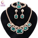 African Green Color Crystal <b>Jewelry</b> Sets For Women Wedding Bridal Vintage Dubai Engagement Bridal Party <b>Accessories</b>