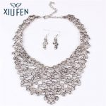 XIUFEN Women Vintage Jewely Set Creative Graffiti <b>Art</b> <b>Deco</b> Filigree Hollow Out Tibet Silver Tribal Necklace Earrings Set ZK30