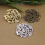 40pcs/Lot 33*31mm flower pedal brooches <b>Antique</b> Bronze/Gold/Silver vintage cabochon pin base blank setting diy handmade <b>jewelry</b>