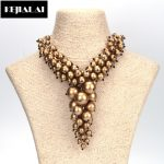 KEJIALAI Luxury <b>Antique</b> Vintage Balls Choker Necklace Collar Charm Statement Necklace Gold and Silver Color for Women <b>Jewelry</b>