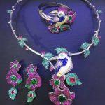 925 <b>sterling</b> <b>silver</b> with cubic zircon bird and flower <b>jewelry</b> set necklace bracelet and earring fashion women <b>jewelry</b>