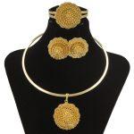 CZ Sale Italian Classic Wedding <b>Jewelry</b> Set Gold Flower Pendant Bracelet & Earrings Necklace Women's Fashion <b>Accessories</b> / Free