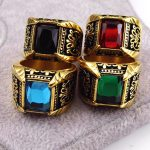 Brand <b>Jewelry</b> Vintage <b>Antique</b> Gold Silver Color Crystal Ring For Men Stainless Steel Square Stone Finger Ring Male <b>Jewelry</b> A0165