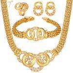 U7 African Costume <b>Jewelry</b> Set Necklace Set Crystal Mutil Circles Dubai Gold Color <b>Jewelry</b> Set Women Wedding <b>Accessories</b> S628