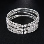 Fashion Crystal Bracelets For Women Wedding Dress <b>Accessories</b> Prom Shoulder <b>Jewelry</b> Rose Gold and Silver Color Plated