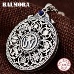BALMORA 925 Sterling Silver Buddhistic Pendants for Women Men <b>Accessories</b> Gift Vintage Blessed <b>Jewelry</b> Without a Chain SY14407