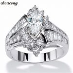 <b>Antique</b> Ring Marquise Cut AAA Zircon Cz White Gold Filled Engagement Wedding Band Rings for women men Fashion <b>Jewelry</b>