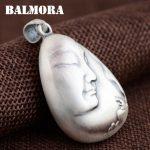 BALMORA 999 Pure Silver Buddha & Lotus Flower Pendants for Women Men Buddhistic <b>Jewelry</b> <b>Accessories</b> Without a Chain SY13294