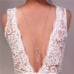 Backdrop necklace novel design crystal long pendant necklaces back deep V halter back chain wedding <b>jewelry</b> bride <b>accessories</b>