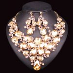 Gorgeous Crystal Bridal <b>Jewelry</b> Sets Wedding Necklace Earring set for Brides Party costume <b>Accessory</b> Decoration Women jewellery