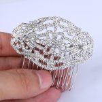 Bella Fashion Chic <b>Art</b> <b>Deco</b> Flower Bridal Hair Comb Headpiece Austrian Crystal Rhinestone Side Comb For Wedding Party <b>Jewelry</b>