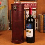 Home Red Wine Box Rero Wood Wine Box Holder Cube Handle Case Craft <b>Antique</b> Wine Storage Box Package Wine Bottles