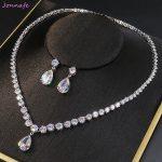 Jonnafe Shine AAA Zircon Bridal <b>Jewelry</b> Sets Women Pageant Prom Necklace Earrings Set Wedding <b>Accessories</b>