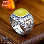 100% Sterling Silver 925 <b>Jewelry</b> 11*11mm Adjustable Ring Blank For Man Tray Setting Square Stone <b>Antique</b> Silver Classical