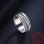 <b>Antique</b> Silver Open Adjustable Rings Plant Leaves Wide Ring Band Women Men Party Rings 925 Finger <b>Jewelry</b>