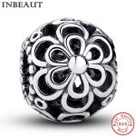 INBEAUT <b>Antique</b> Vintage 925 Sterling Silver Hollow Flower Chain Beads <b>Jewelry</b> Making Women New Design Charm fit Pandora Bracelet