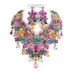 Magnificent Multi Color For Bridal <b>jewelry</b> sets Big Fashion women Party necklace and earring sets wedding <b>Jewelry</b> <b>accessories</b>