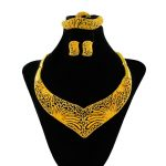 Sales High Quality African Big Bride <b>Accessories</b> Gold <b>Jewelry</b> Pendant Necklace Earrings Fashion Nigerian Bridal <b>Jewelry</b> Sets