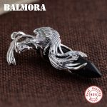 BALMORA 925 Sterling Silver Phoenix Pendants for Women Men Thai Silver <b>Jewelry</b> Vintage Black Animal <b>Accessories</b> Gift MN12288