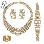 BAUS 2018 Exquisite african beads <b>jewelry</b> set turkish <b>jewelry</b> earrings Gold Color Bridal bridal <b>jewelry</b> sets Party <b>Accessories</b>