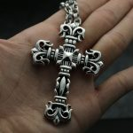 fashion <b>jewelry</b> male winter sweater chain <b>accessories</b> CH Silver Cross Necklace Sterling Silver Pendant large Fire Totem