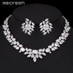 Mecresh Luxury Cubic Zirconia Wedding <b>Accessories</b> Flower Necklace + Earrings <b>Jewelry</b> Sets for Bridal 2017 Best Gift TL331
