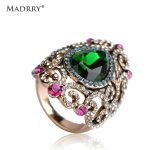 Madrry Vintage <b>Jewelry</b> Water Drop Wide Rings For Women Men <b>Antique</b> Gold Green Rhinestone Bague Femme Anel Masculino Accessory