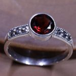 Real Pure 925 Sterling Silver <b>Jewelry</b> Vintage Thai Red Garnet Ring Natural Stone Rings For Women <b>Antique</b> Anel Feminino