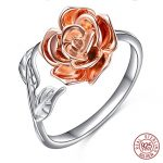 Retro 925 Sterling Silver Rose Flower Rings Crystal <b>Antique</b> Open Wrap Ring New Design for Women Wedding <b>Jewelry</b> Gift ZK30