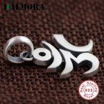 BALMORA Authentic 925 Sterling Silver Six words' Mantra Sanskrit Pendants Women Men Accessories Gifts <b>Antique</b> <b>Jewelry</b> SY13249