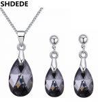 SHDEDE Water Drop Crystal from Austrian High Quality Necklace Earrings Women <b>Jewelry</b> Sets Rhinestone Bijoux <b>Accessories</b> +27382