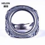 <b>Art</b> <b>Deco</b> Sterling Silver 925 Semi Mount Men Wedding Ring 17x17mm Round Cabochon Fine <b>Jewelry</b> Setting For Amber Agate Turquoise