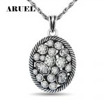 ARUEL vintage Long chain <b>antique</b> silver crystal pendant necklace Women & men Couple Classic popular <b>Jewelry</b> Christmas present